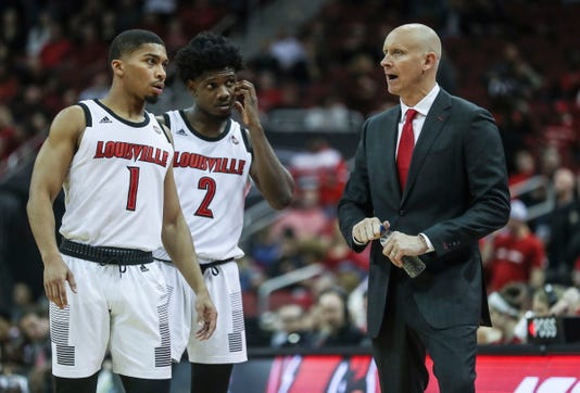 Louisville Coach Chris Mack angry in first game