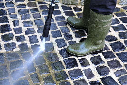 An Image Of Walkway Cleaning High Pressure Cleaner