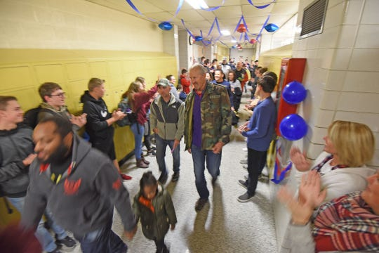 Veterans were honored Friday during a special ceremony at Lexington High School.