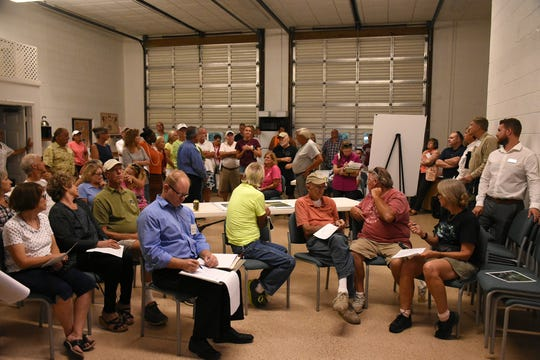 About 60 residents came out to hear about the project. County planners held a public information meeting at the Goodland Community Center last year, to go over plans and solicit resident input on the upcoming work to improve Goodland Drive.