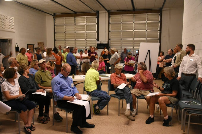 About 60 residents came out to hear about the project. County planners held a public information meeting at the Goodland Community Center on Thursday evening, to go over plans and solicit resident input on the upcoming work to improve Goodland Drive.