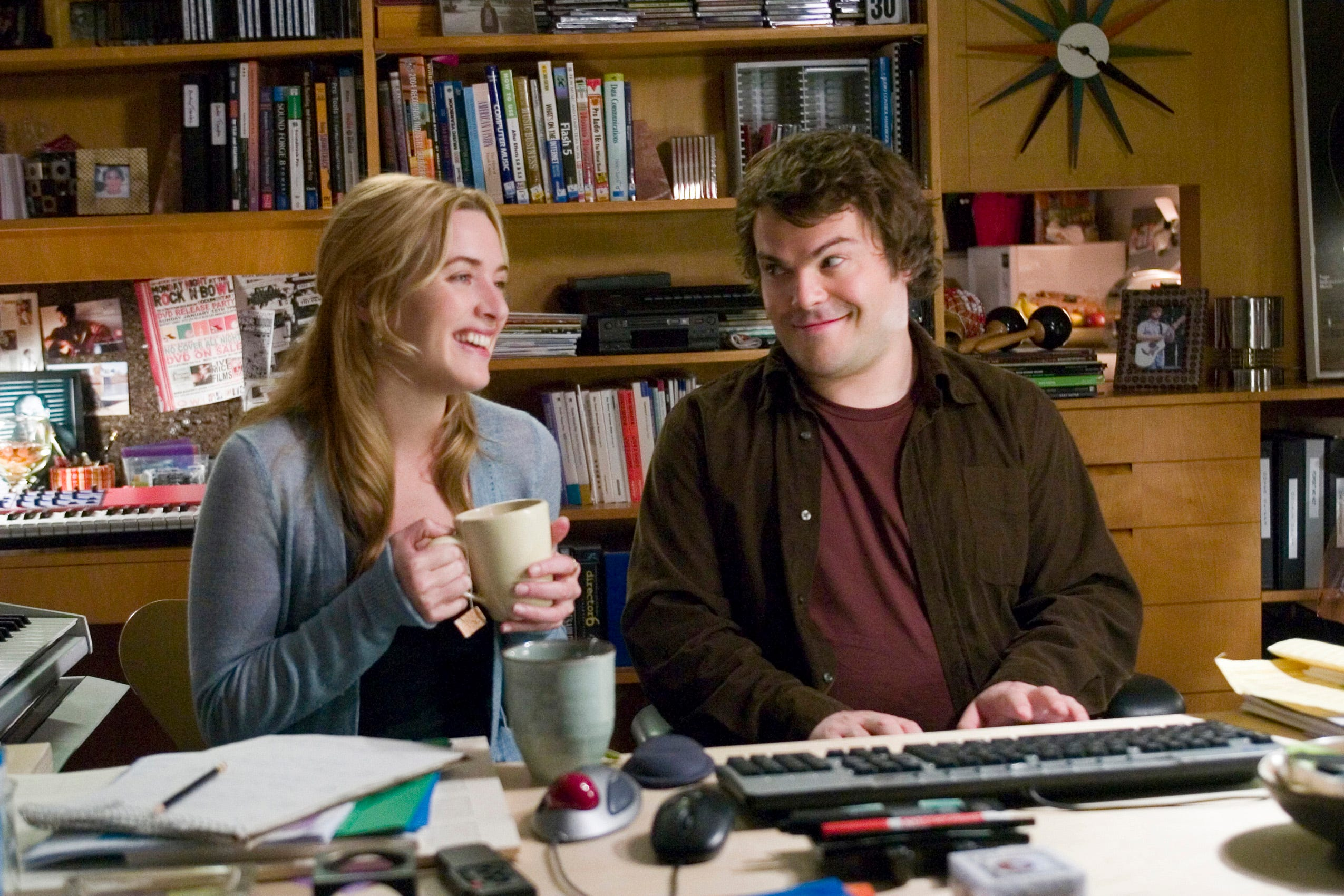 "Kate Winslet and Jack Black star in ""The Holiday."""