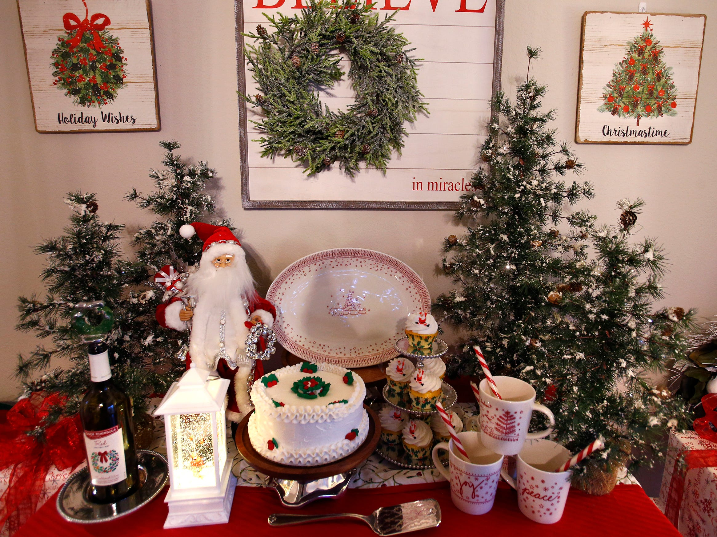 The dining room sideboard is set for the 26th annual Christmas Fantasy House with 18 rooms decorated by more than 16 area decorators to benefit the Ronald McDonald House Charities Eastern Wisconsin. The Fantasy house will be open 10 a.m. to 8 p.m. on Nov. 9, and 10 a.m. to 6 p.m. on Nov. 10 and 11. Parking and shuttle to the House is at Ridgewood Baptist Church, 2720 Lilly Road, Brookfield. Tickets are $20 at the door.