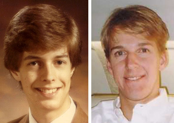 Joey Schmitz (1962-1981), left, and Charlie Kubly (1975-2003) both took their own lives. Their respective parents were lifelong friends and both became active philanthropically to support access to treatment of mental illness in Wisconsin and reduce the stigma that goes with psychological disorders.