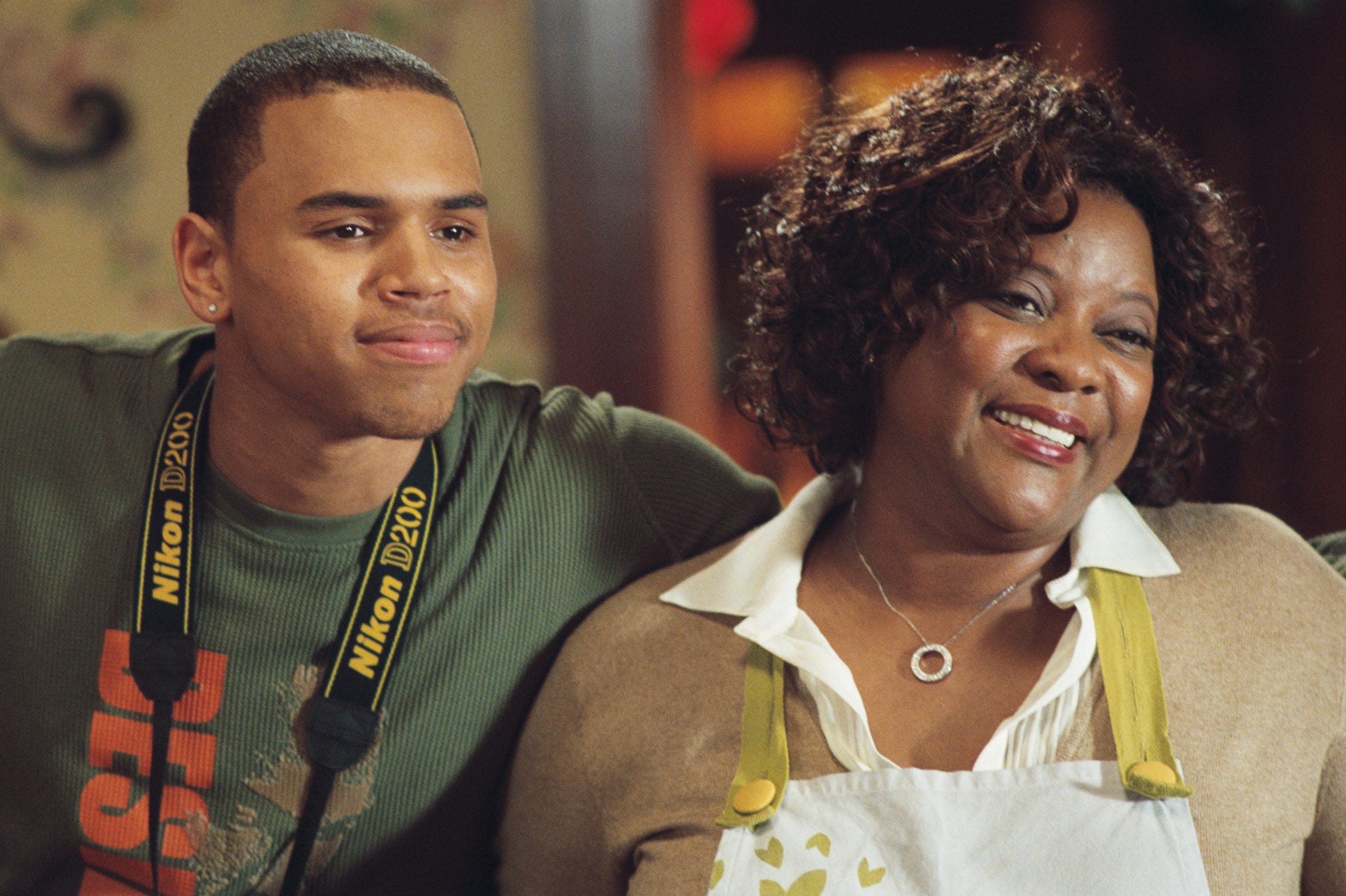 "Chris Brown and Loretta Devine star in ""This Christmas."""