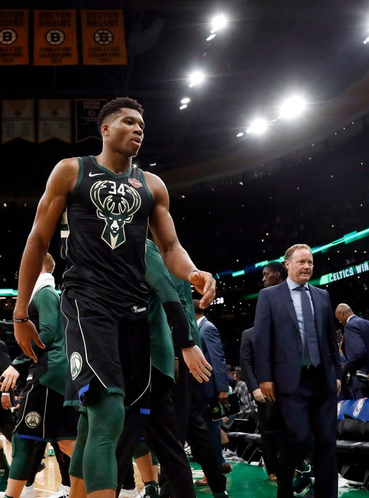 Nba Milwaukee Bucks At Boston Celtics