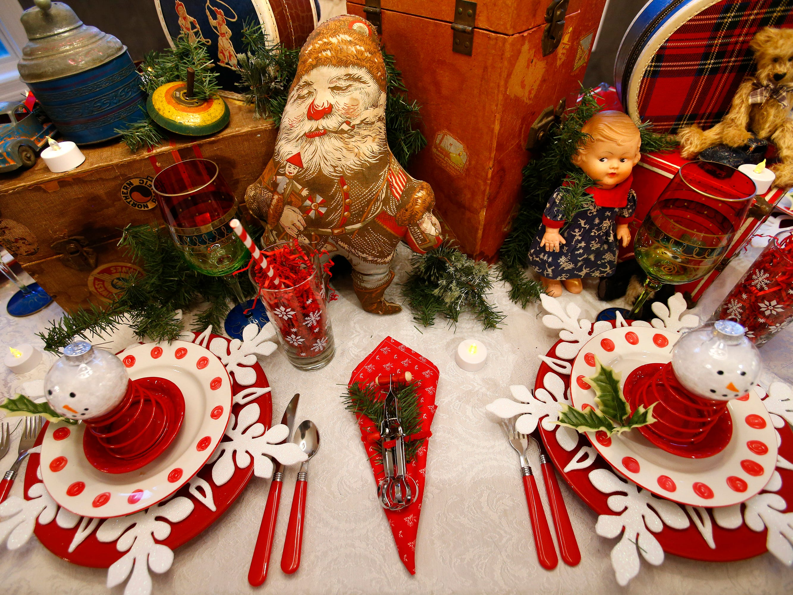 A table set for the 26th annual Christmas Fantasy House with 18 rooms decorated by more than 16 area decorators to benefit the Ronald McDonald House Charities Eastern Wisconsin. The Fantasy house will be open 10 a.m. to 8 p.m. on Nov. 9, and 10 a.m. to 6 p.m. on Nov. 10 and 11. Parking and shuttle to the House is at Ridgewood Baptist Church, 2720 Lilly Road, Brookfield. Tickets are $20 at the door.