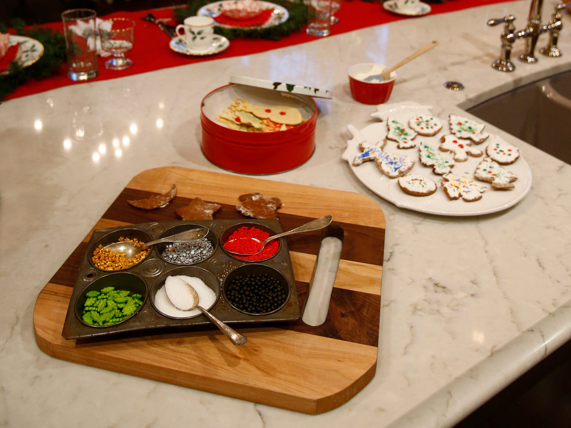 The kitchen is set for decorating cookies for the 26th annual Christmas Fantasy House with 18 rooms decorated by more than 16 area decorators to  benefit the Ronald McDonald House Charities Eastern Wisconsin. The Fantasy house will be open 10 a.m. to 8 p.m. on Nov. 9, and 10 a.m. to 6 p.m. on Nov. 10 and 11. Parking and shuttle to the House is at Ridgewood Baptist Church, 2720 Lilly Road, Brookfield. Tickets are $20 at the door.