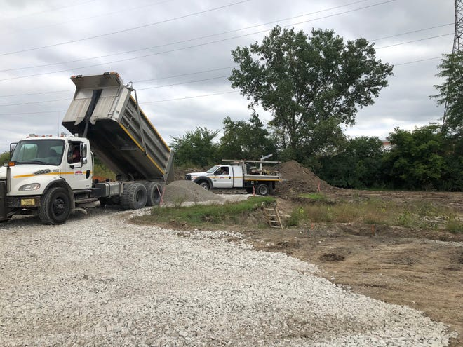 The site is prepared behind the West Allis police station for a first of its kind police training facility.