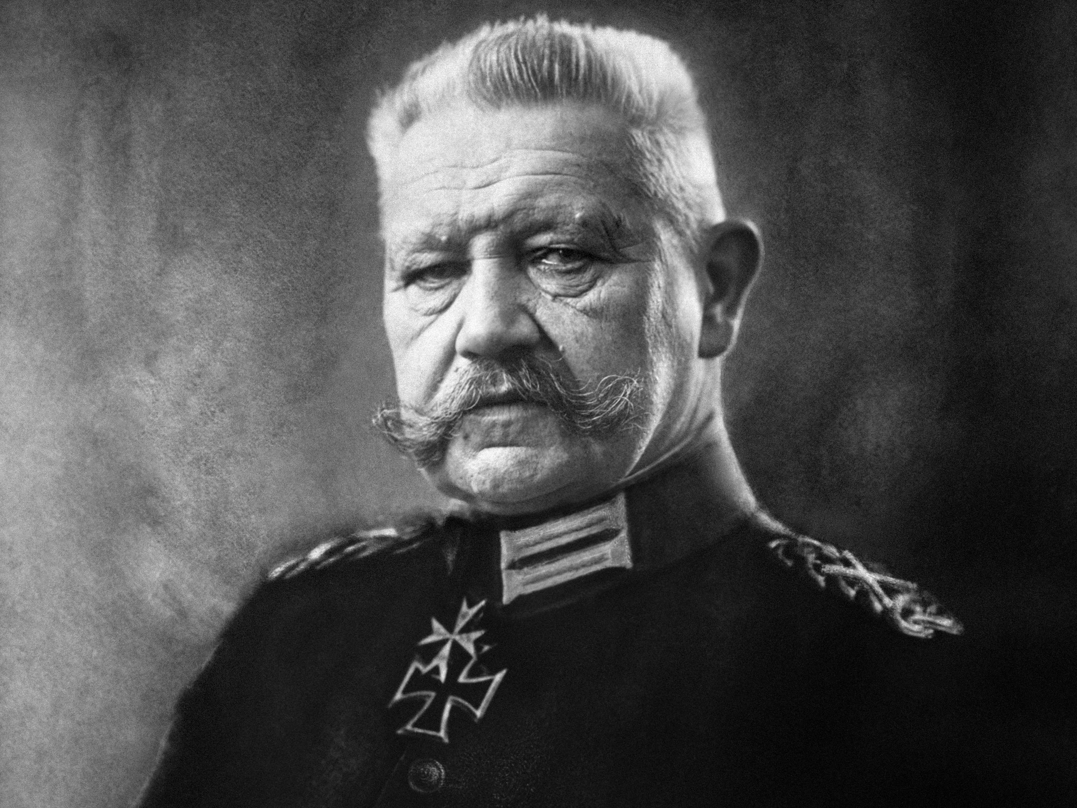 In this file photo taken on Sept. 12, 1914, during World War I, German Field Marshal Paul von Hindenburg Commander of German and Austrian Forces poses.