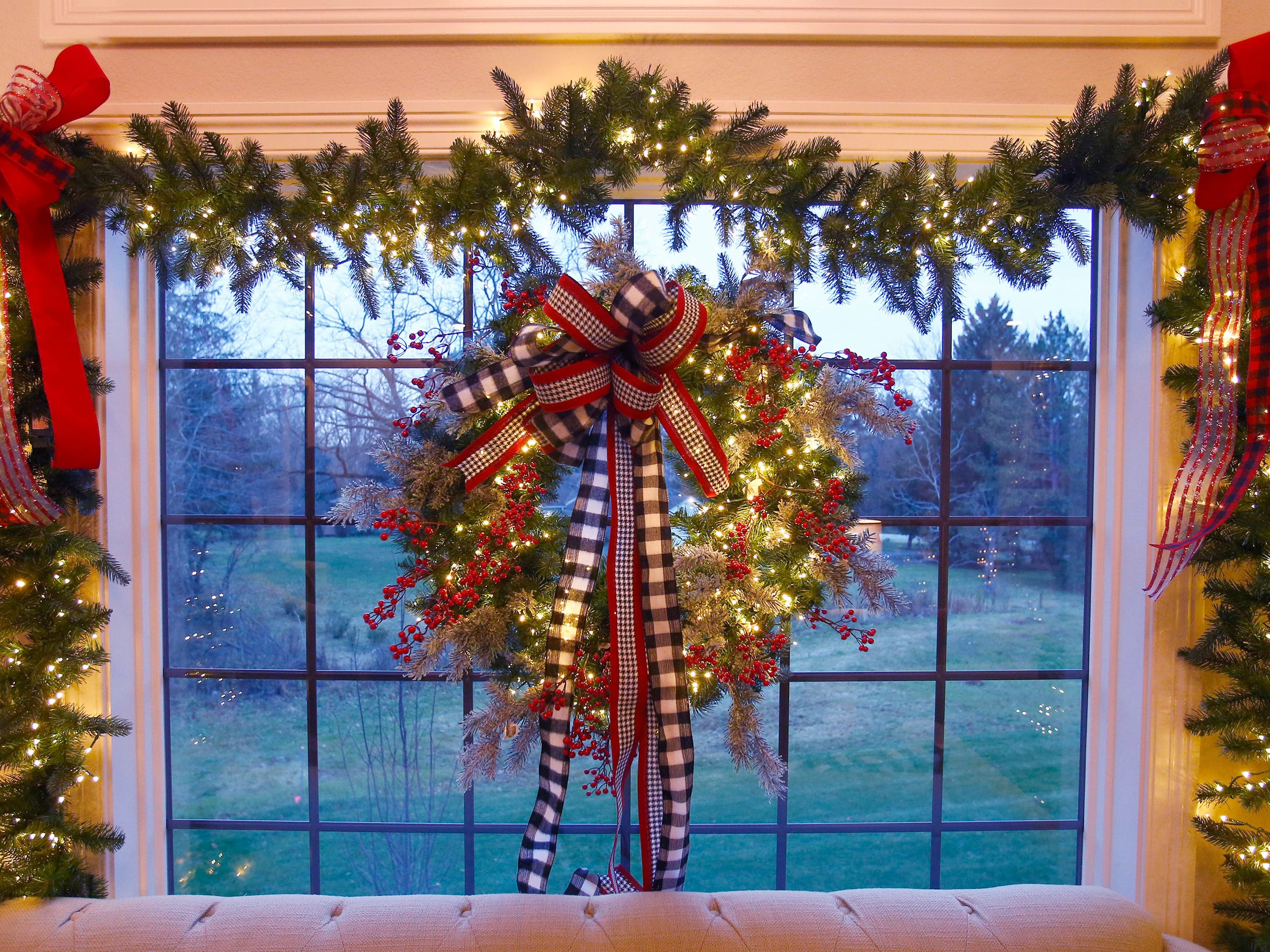 A window to the backyard is decorated for the 26th annual Christmas Fantasy House with 18 rooms decorated by more than 16 area decorators to benefit the Ronald McDonald House Charities Eastern Wisconsin. The Fantasy house will be open 10 a.m. to 8 p.m. on Nov. 9, and 10 a.m. to 6 p.m. on Nov. 10 and 11. Parking and shuttle to the House is at Ridgewood Baptist Church, 2720 Lilly Road, Brookfield. Tickets are $20 at the door.