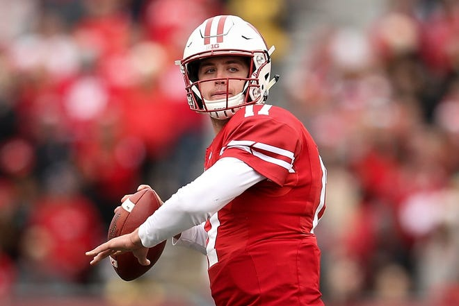 Jack Coan will be making his second start as quarterback of the Badgers.