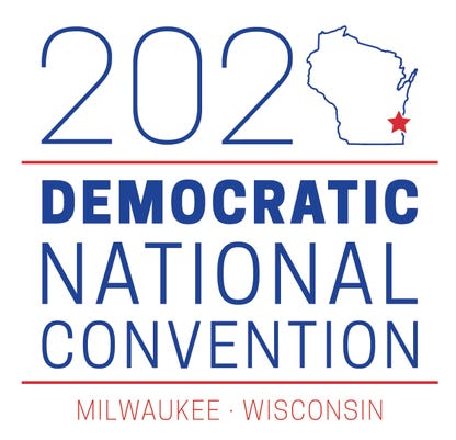 2020 DNC logo Stacked