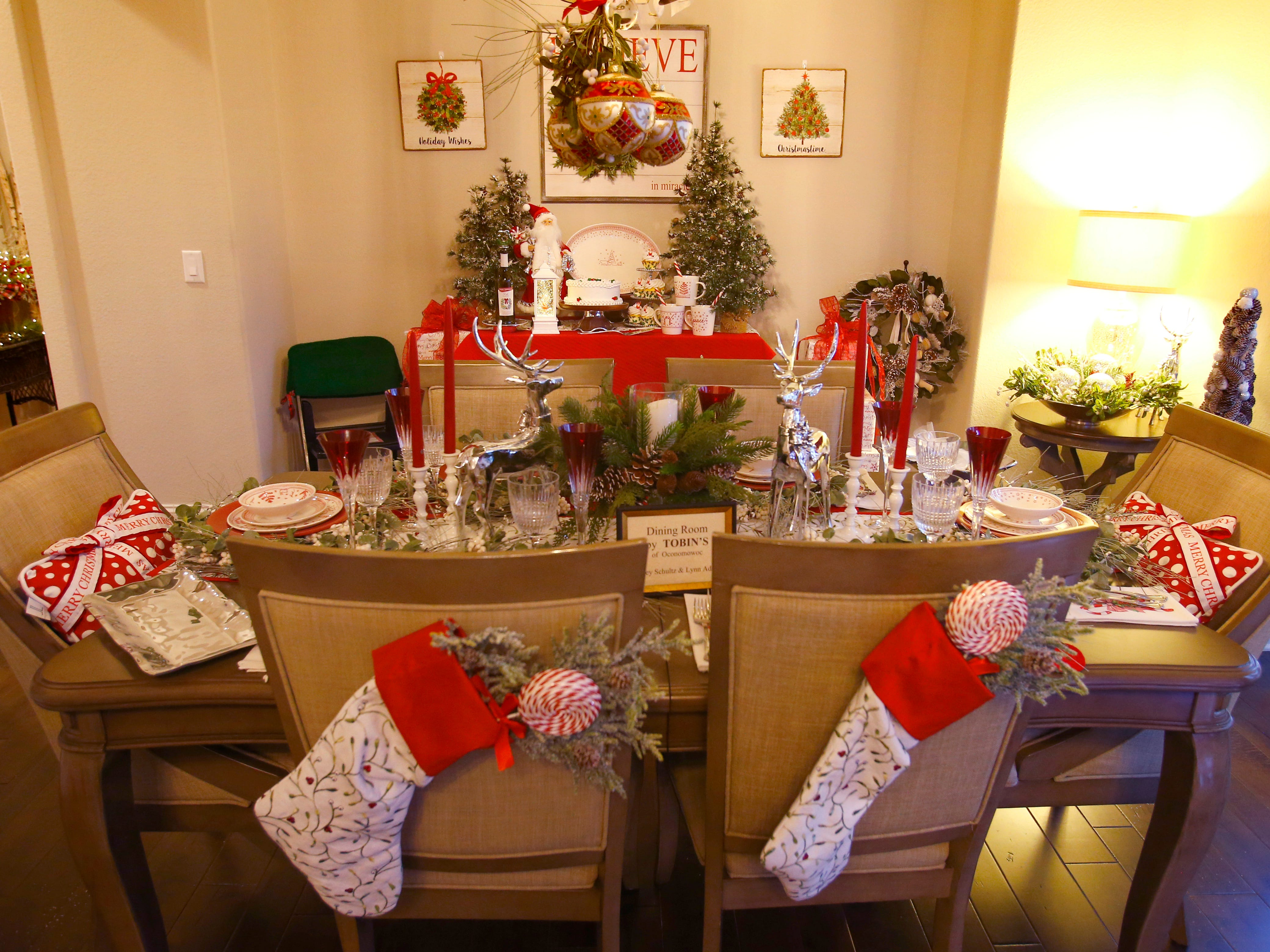The dining room is set for the 26th annual Christmas Fantasy House with 18 rooms decorated by more than 16 area decorators to benefit the Ronald McDonald House Charities Eastern Wisconsin. The Fantasy house will be open 10 a.m. to 8 p.m. on Nov. 9, and 10 a.m. to 6 p.m. on Nov. 10 and 11. Parking and shuttle to the House is at Ridgewood Baptist Church, 2720 Lilly Road, Brookfield. Tickets are $20 at the door.