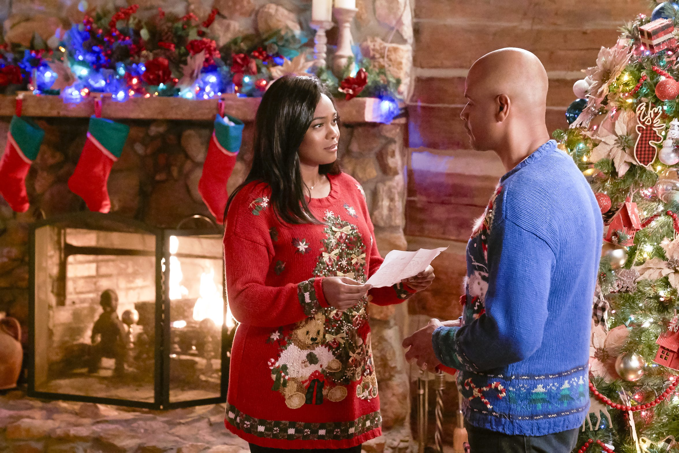"Tatyana Ali returns to her home in small-town Wisconsin to settle her sister's estate and runs into an old flame (Dondre Whitfield) in ""Christmas Everlasting."""