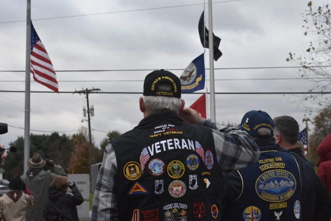 The Veterans Memorial Ceremony was held in the Pleasant View Community Park on Friday, Nov. 9.