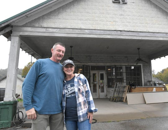 Norm and Teresa Gielda appreciate rusted signs, peeling paint and patched up wooden floors.  The Gieldas have spent the last seven months restoring the 90-year-old Davis General Store in the Boston community in Williamson County.