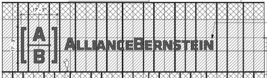 AllianceBernstein's tower logo design