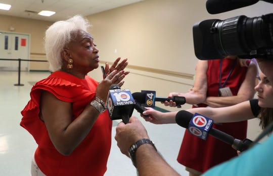 Broward County Supervisor of Elections Dr. Brenda Snipes answers reporter's questions about a recount from the midterm election on Thursday, Nov. 8, 2018.