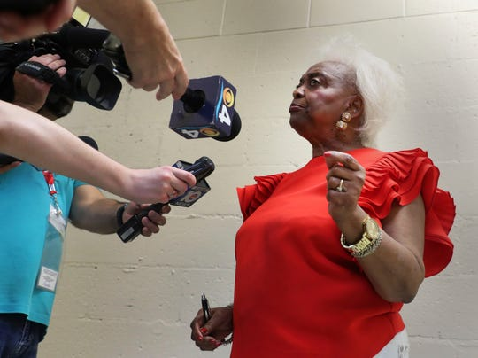 Broward County Supervisor of Elections Dr. Brenda Snipes, answers reporter's questions about a possible recount from the Midterm election, on Thursday, November 8, 2018.