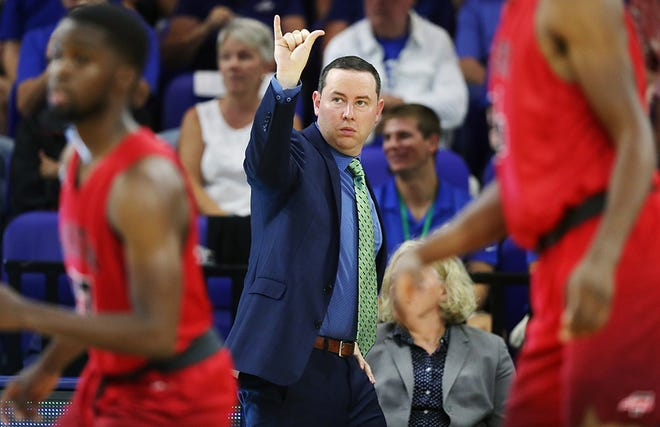 FGCU coach Michael Fly will have to pick his pressing spots carefully at super-fast No. 10 Michigan State on Sunday.
