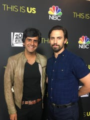 "Siddhartha Khosla (left) with Milo Ventimiglia (right), who plays Jack on ""This Is Us."""