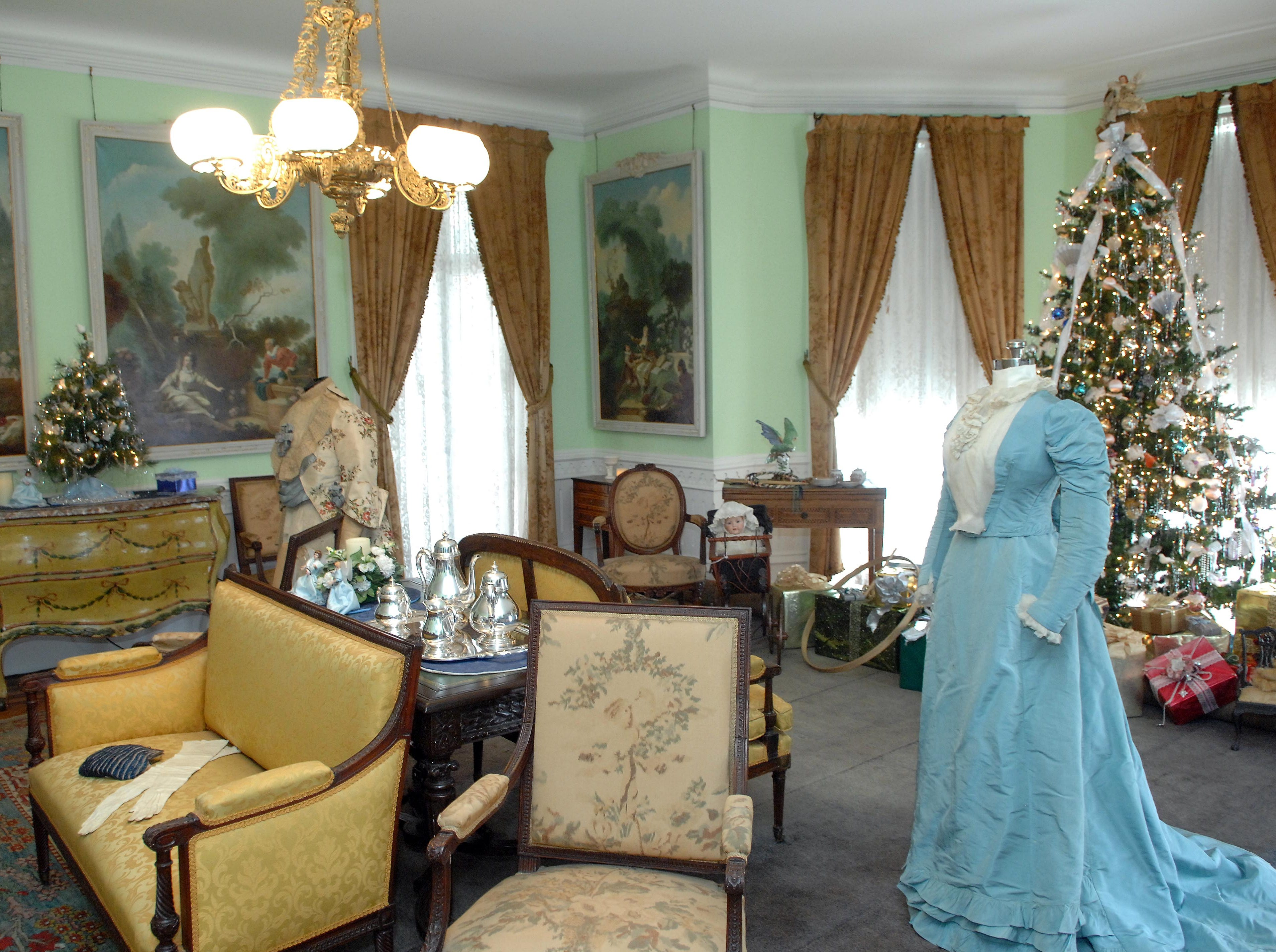 The Victorian Christmas open house at Ringwood Manor on Nov. 30, 2015 featured displays of vintage clothing.