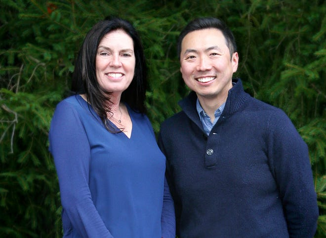 Newly elected council members Debbie Tsabari and Jimmy Song