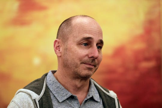 New York Yankees general manager Brian Cashman speaks to reporters during the Major League Baseball General Manager Meetings Wednesday, Nov. 7, 2018, in Carlsbad, Calif.