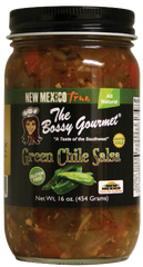 The Bossy Gourmet won first place at the New Mexico State Fair for their Green Chile Salsa, available at this Year's HomeGrown: A New Mexico Food Show and Gift Market.