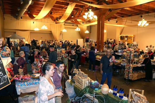 Attendees shop for New Mexico-made products available for sale at HomeGrown: A New Mexico Food Show and Gift Market in 2016. This year, HomeGrown takes place on Saturday, Nov. 17 and Sunday, Nov. 18 at the New Mexico Farm & Ranch Heritage Museum.