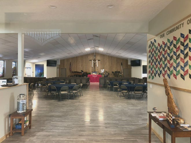 The chapel sanctuary is used by race track employees, trainers, ho5rse owners and the public.