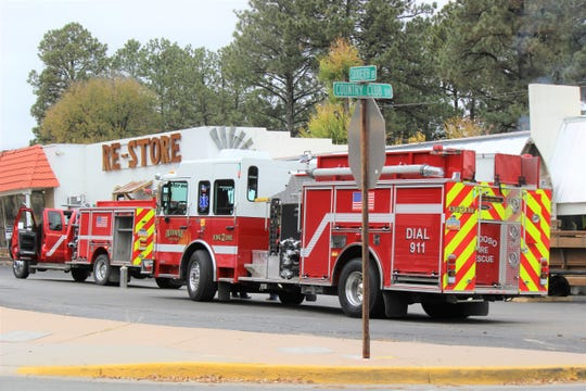 The Ruidoso Fire Department was called on scene to 2200 Sudderth Drive after a 911 call had been made reporting a fire in a chimney inside the store.