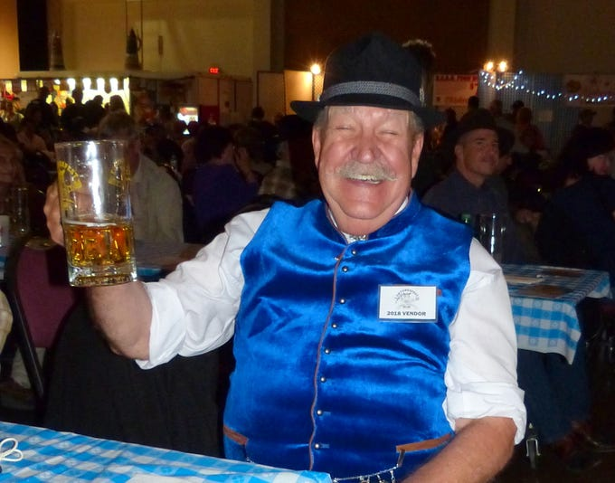 This happy German is in the mood and outfit for the annual Oktoberfest in Ruidoso.
