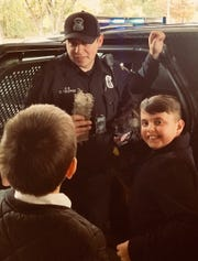 Westland police Officer Derek Trosper and K-9 Narco visited with Mikos Rosati and other youngsters at Ss. Constantine and Helen Greek Orthodox Church recently.
