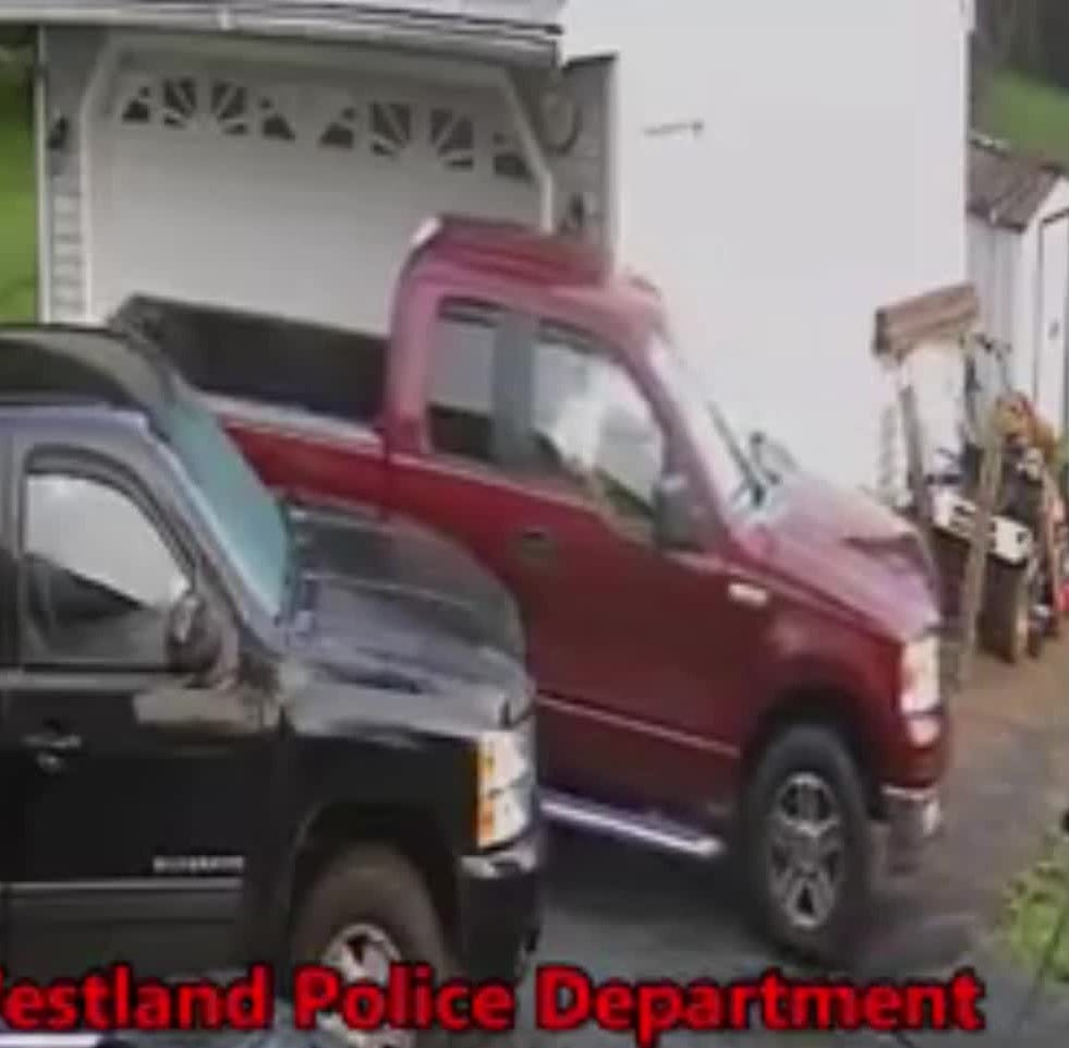 Police seek man in this video who barreled pickup truck into Westland back yard