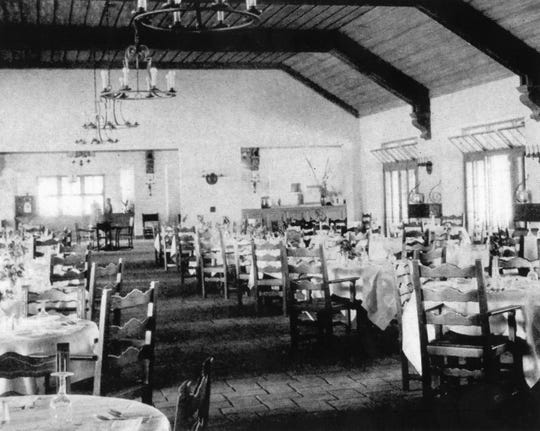 Interior of the dining room.