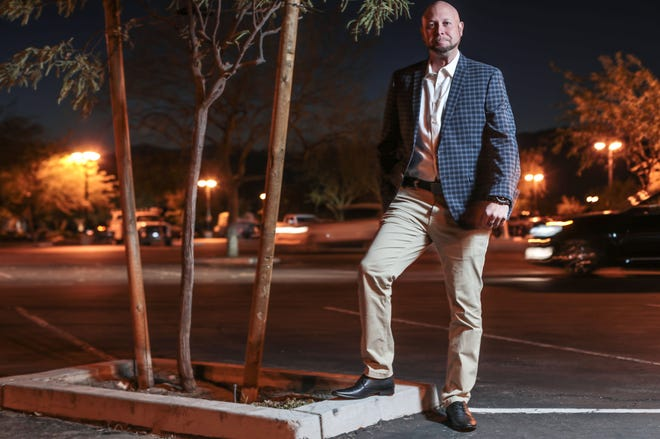 Tim Castro a former, US Marine, a homeless man and now a doctoral student studying organizational leadership on Thursday, November 8, 2018 in Palm Desert.