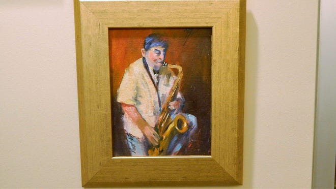 An oil painting of Pensacola's Joe Occhipinti by Nina Fritz is now part of the Jazz Room at the West Florida Public Libraries' downtown Pensacola Library.