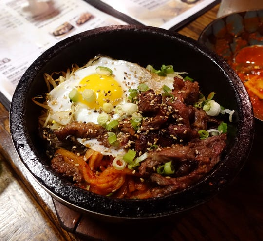 Kalbi dolsot bibimbap at Cafe Ga Hyang in Glendale.
