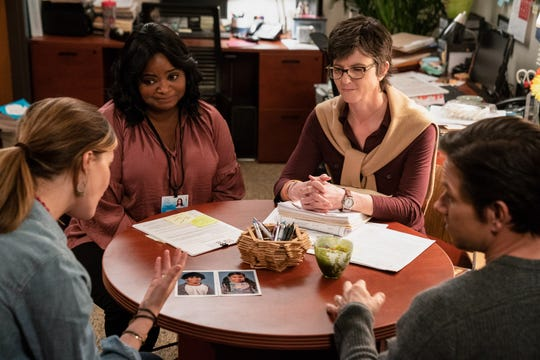 "Rose Byrne (from left), Octavia Spencer, Tig Notaro and Mark Wahlberg star in ""Instant Family."""