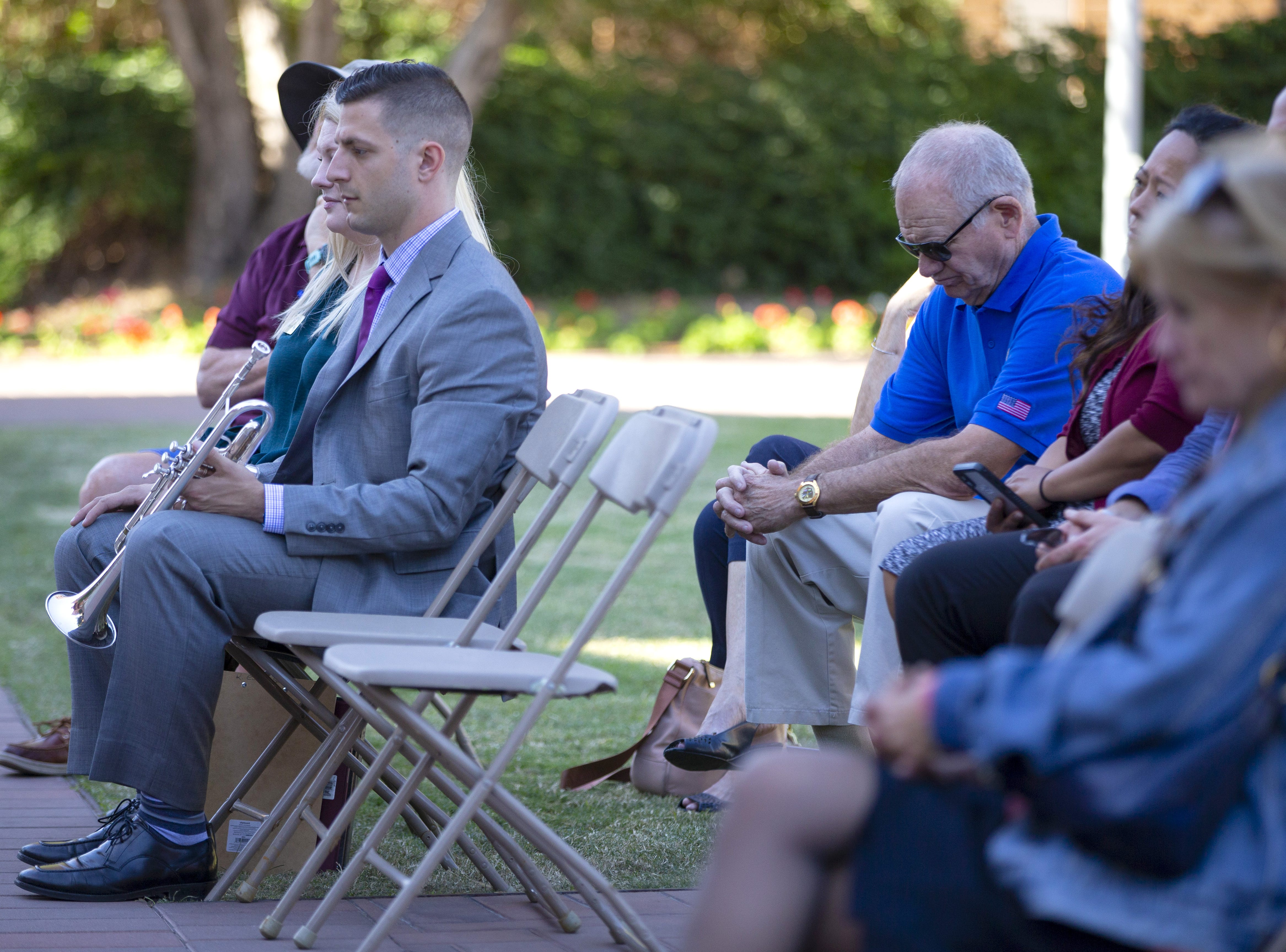 Guests attend the reading of the names of a 137 ASU Alumni who died while serving their country during an annual tradition on the Tempe campus.
