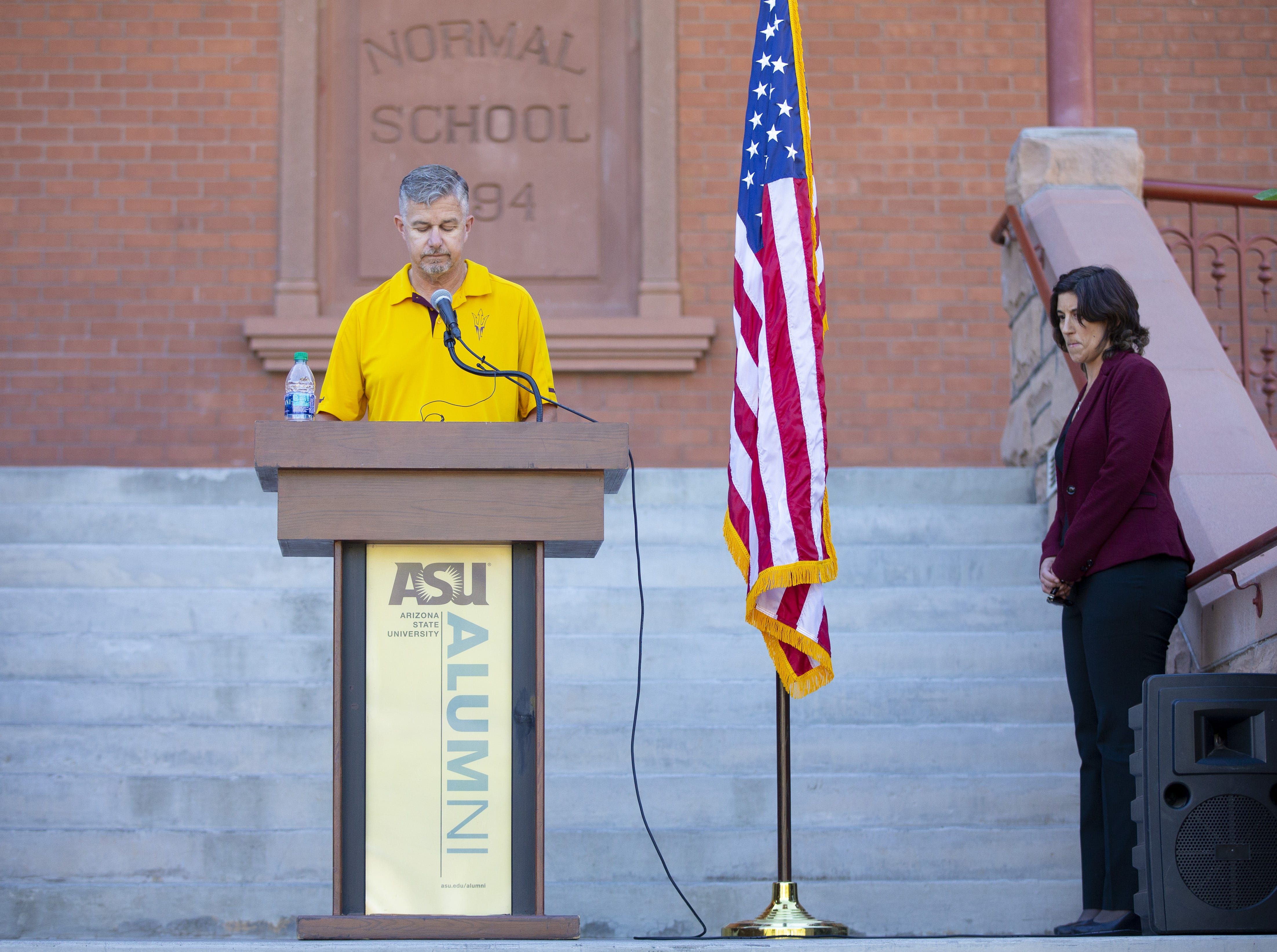 ASU Alumni Army Vet Chris Hill reads some 137 ASU Alumni names who died while serving their country during an annual tradition on the Tempe campus.