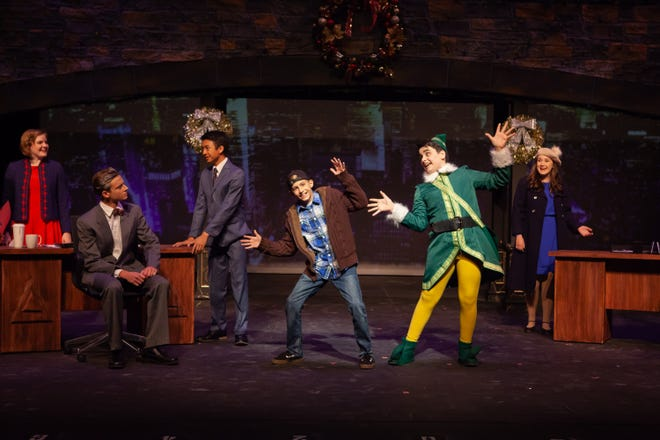 "The cast of ""Elf Jr."" rehearses Nov. 8, 2018."
