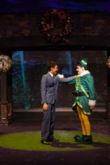 Max Mendosa (left, as Walter Hobbs) and Josh Pike (Buddy the Elf).