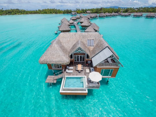 Over the water villa at the InterContinental Resort Bora Bora Thalasso Spa