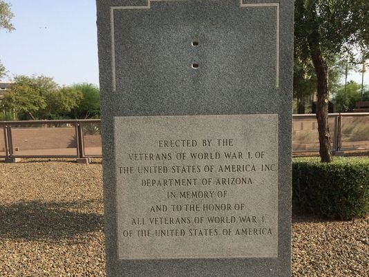 Arizona's World War I memorial is at long last being fixed and upgraded to mark the 100th anniversary of the conflict.