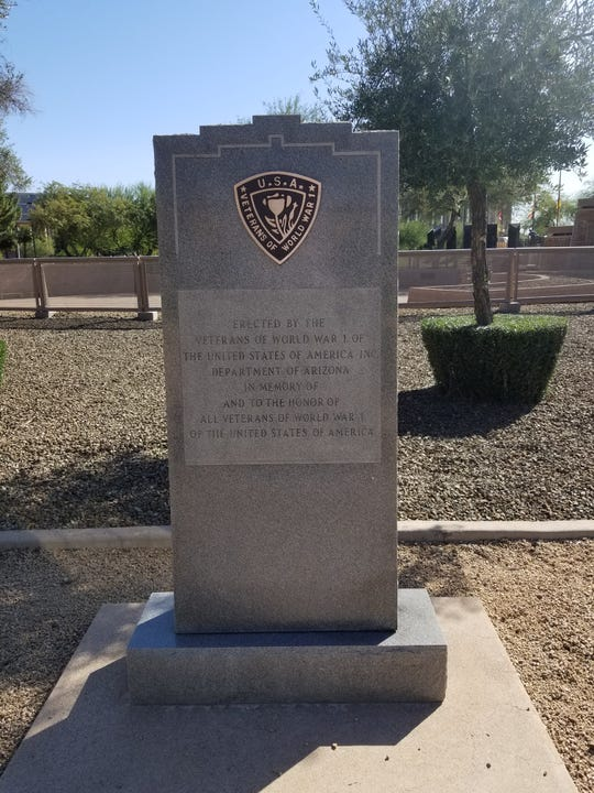 Arizona's World War I monument was restored on Friday as workers replaced a stolen plague that has been missing for a decade or perhaps longer. This, in time for Sunday's Centennial ceremony.