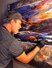 During the Hidden in the Hills Studio Tour, artists such as Michael McKee give live demonstrations.