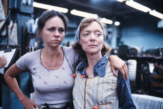 """Sally Field won her first Oscar starring as a union organizer in 1979's """"Norma Rae."""" Barbra Baxley (right) co-stars."""